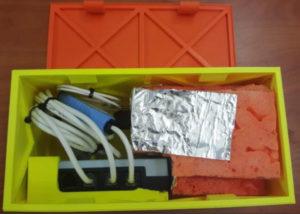 EDL-4S rocket test packaging.