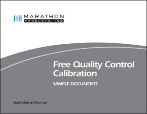 Free Quality Control Calibration Sample Documents
